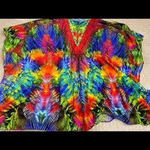 Luli Fami swimsuit coverup caftan tunic. One size